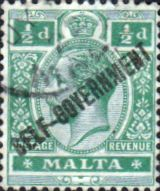 Malta 1922 George V Overprint Self Goverment SG 115 Fine Used Scott 87 Other Malya Stamps HERE
