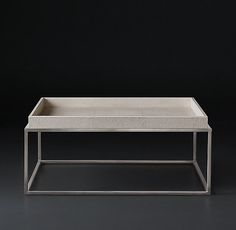 Hudson Shagreen Tray Square Coffee Table