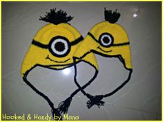 SSO18 Minion ear flap hats