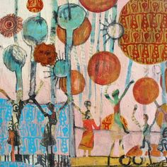 Sky high - Mixed media painting by Sophie Fordham