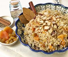 Jeweled Rice Pilaf - Roti n Rice (clarified butter & chicken stock)
