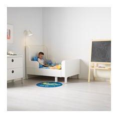 BUSUNGE Bettgestell, ausziehbar, weiß - 80x200 cm - IKEA
