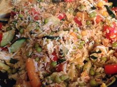 Rice with egg and vegetables