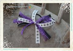 Spirit Bow Collection  Purple White & Black Hair   $6.00