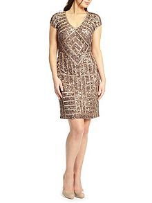e5e8568857 Ariella Emily Sequin Mini Cocktail Dress