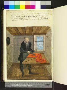 Tailor. Amb 279.2 ° folio 81 verso. Die Hausbucher der Nurnberger Zwolfbruderstiftungen. 1612. German.