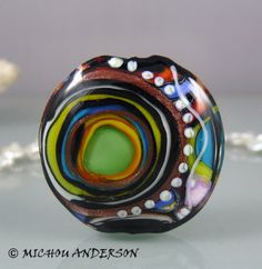 Universe  Art Glass focal bead by Michou P. by michoudesign, $98.00
