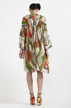 Akira Isogawa Spiral Shibori Printed Kimono Coat