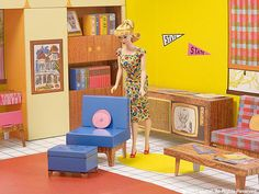 https://flic.kr/p/XfWVqf | New Barbie's® Dream House® (1962 Reproduction) 2017. | A special vintage repro Barbie® doll comes with the Dream House®, too.
