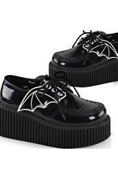 Creeper-205 Black Glitter Bat