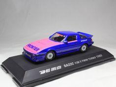 IWAYA MAZDA SAVANNA RX-7 RE AMEMIYA SA22C 13B TWIN TURBO YATABE 1985 1/43 #Iwaya #Mazda