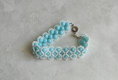 Blue beaded bracelet Light blue beaded bracelet by KrysDoings
