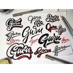 lettering sketches on Behance Handwritten Typography, Typography Letters, Typography Design, Hand Lettering, Artsy Fartsy, Creative Design, Graffiti, Sketches, Behance