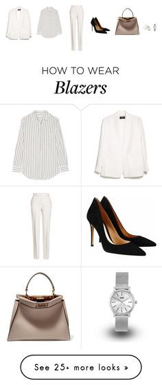 """""""Untitled #3994"""" by memoiree on Polyvore featuring Equipment, Jil Sander, MANGO, Gianvito Rossi, Fendi, Chloé and KENNY"""