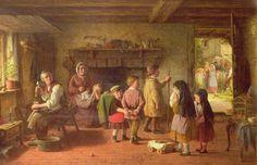 """Early Sorrow"", Frederick Daniel Hardy, 1861; Towneley BURGM:paoil124"