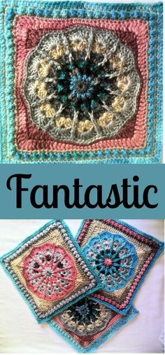 Fantastic Crochet Square, free crochet pattern designed by Julie Yeager, part of the Nuts About Squares CAL by Esther from It's All In A Nutshell.