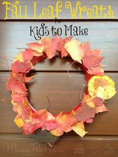 Mama Pea Pod: {Fall Leaf Wreath for Kids to Make}