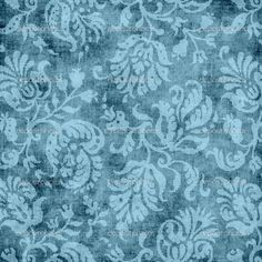 Vintage Blue Floral Tapestry Pattern — Stock Photo #11939801