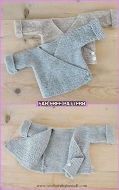 Baby Knitting Patterns Easy Knit Baby Kimono Cardigan Free Patterns - Baby Cardigan...