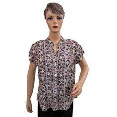 Womens Fashion Printed Blouse Tops Cotton Shirt Cap Sleeve Classic Button Down XXL (Apparel)  http://www.picter.org/?p=B007LHYSUI
