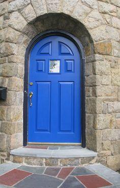 blue front door tudor