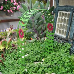 Miniature Gardening - Green Vine and Floral Arbor > $7.99    #miniaturegardening #fairygarden #planningaminiaturegarden