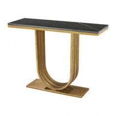 GOLD LEAF AND BLACK MARBLE OLYMPIA CONSOLE
