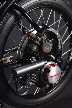 1966 Little Honda :: By Chicara Nagata - RocketGarage - Cafe Racer Magazine Bicycle Engine, Motorcycle Engine, Motorcycle Design, Bicycle Design, Motos Honda, Honda Motorcycles, Vintage Motorcycles, Custom Motorcycles, Concept Motorcycles