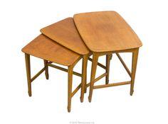 Stunning Danish Style Teak Nested Tables Retro Vintage Nest G Plan Eames Era