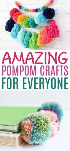 Not just for kids anymore, these pompom crafts are perfect for teens and adults who want to add a little color and texture to their craft projects. Diy Projects For Teens, Diy For Teens, Crafts For Teens, Fun Projects, Fun Crafts, Summer Camp Crafts, Camping Crafts, Pom Pom Rug, Little Panda