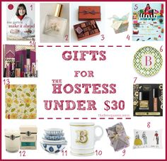 Holiday Season Gift Guide - Gifts for the Hostess Under $30 | The Box Queen | The Box Queen