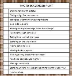 Free Printable Photo Scavenger Hunt #ScavengerHunt #KidsActivities