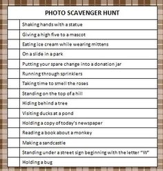 Free Printable Photo Scavenger Hunt #ScavengerHunt #KidsActivities
