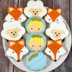 Sweet Little Prince cookies for Oliver's birthday by whoosbakery Baby Boy Birthday Themes, Prince Birthday Party, Boy First Birthday, Boy Birthday Parties, Little Prince Party, The Little Prince, Cartoon Cookie, Prince Cake, Princess Cookies