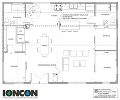 40x28 Container Home Floor Plan
