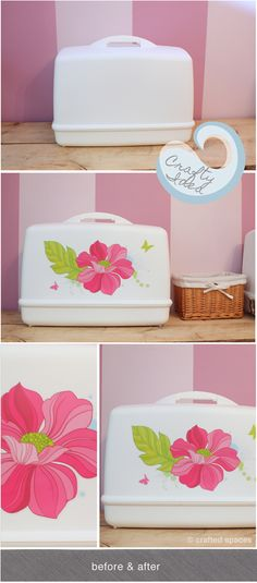 Crafty Idea: Decorate Your Sewing Machine Carrying Case by Crafted Spaces. #sewing #crafts