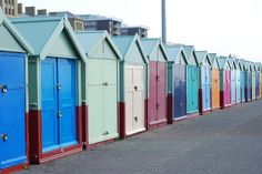Brighton Beach, England.  Awesome little beach huts!!