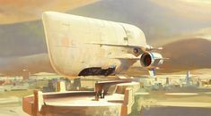 concept ships: Spaceship concept art by Tuomas Korpi -- Durn airship of Latter Autumn