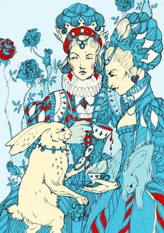 Several colored illustration about Alise magic world. Maria Surkuva
