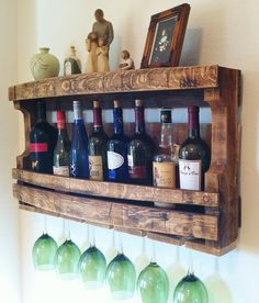 Rustic Wine Rack Reclaimed Napa Valley Wine by GreatLakesReclaimed, $139.00
