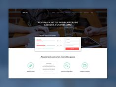 Loan search landing page sliders by Ricardo Salazar