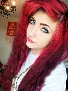 Beautiful red hair... Makeup