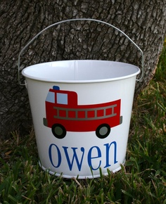 EASTER PAIL/BUCKET 5 quart metal personalized by HandCraftedHC