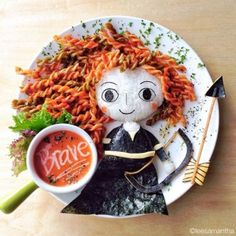 Anyone Caught Eating These Disney Food Art Should be Fined (Because it's absolutely adorable! Cute Food, Good Food, Yummy Food, Bento Recipes, Baby Food Recipes, Diet Recipes, Kreative Snacks, Amazing Food Art, Awesome Food