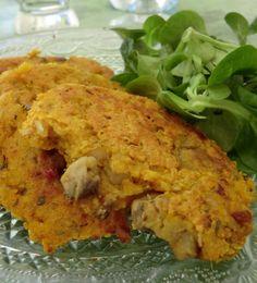 Aujourd'hui des galettes aux patates douces,   aux champignons et au millet!  Délicieuses avec une salade pour un déjeuner léger!         ...