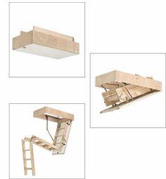 Escalera escamoteable 3 tramos, para integrar espacios superiores.