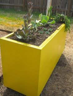 Filing cabinet planter. what a great reuse