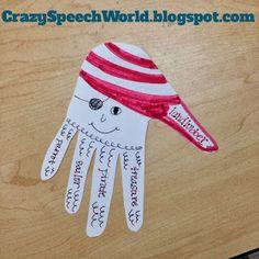 Crazy Speech World: Pirate Handprint Craft-ivity