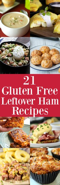 Click this pin now to get the recipes! Love making Ham on the holidays, but not sure what to do with the leftovers? Don't worry, I've got you covered. Here's a list of the top 21 gluten free leftover ham recipes that are perfect for your leftover Christmas ham. So sit back, relax and let me do the recipe searching for you.