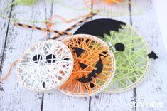 Hoop and String Halloween art - so cute - so easy